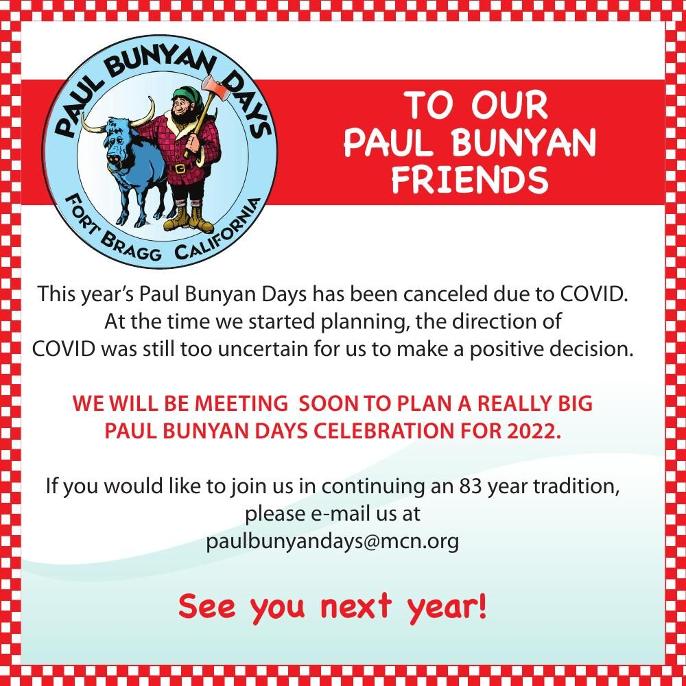 TO OUR PAUL BUNYAN FRIENDS this