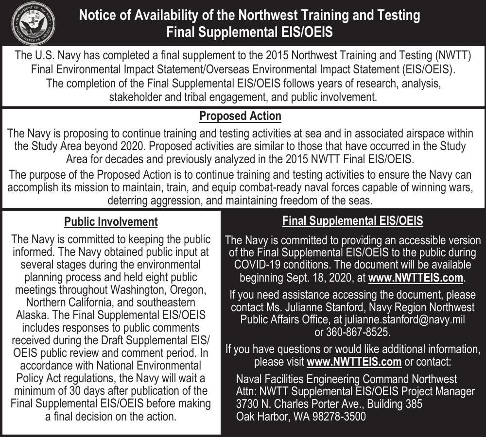 Notice of Availability of the Northwest