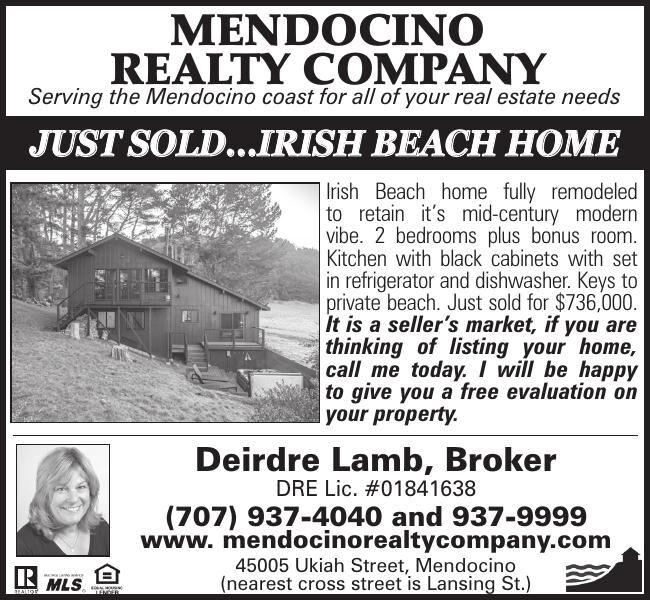 MENDOCINO REALTY COMPANY Serving the