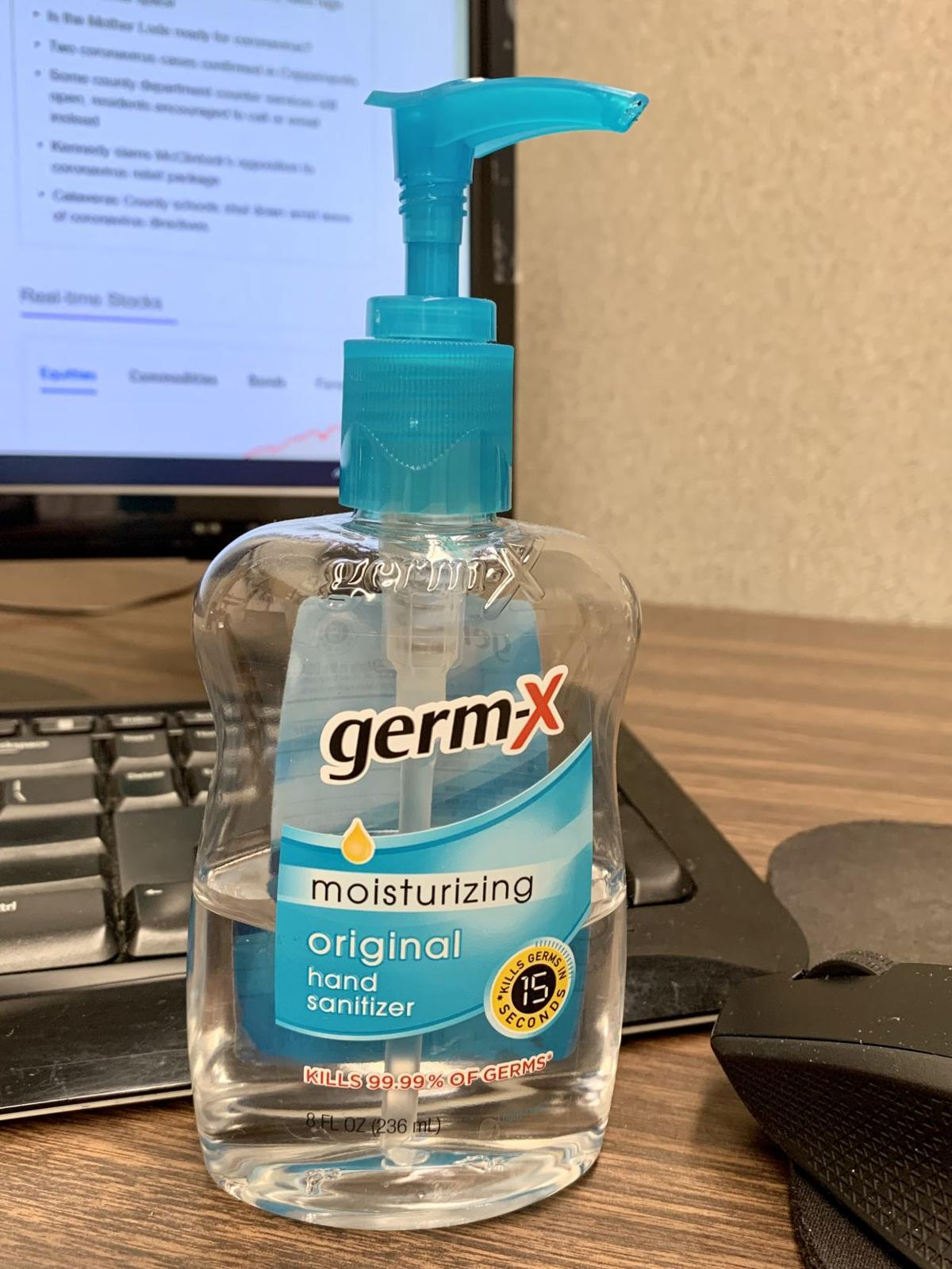 Who stole the hand sanitizer? I'm on the case
