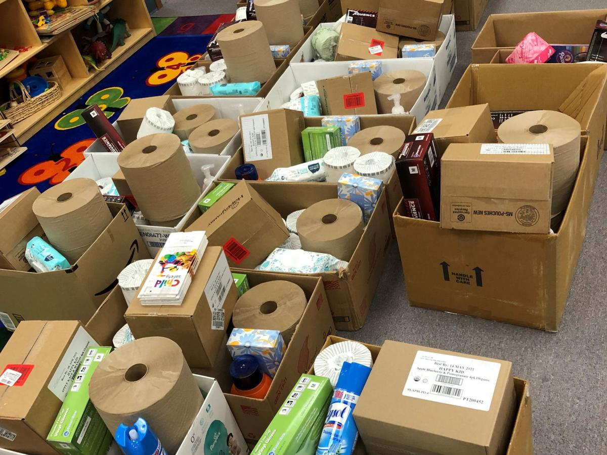 The daycare was able to receive supplies for remote learning during the pandemic with the help of The Resource Connection's Child Care Resources and Referral program.