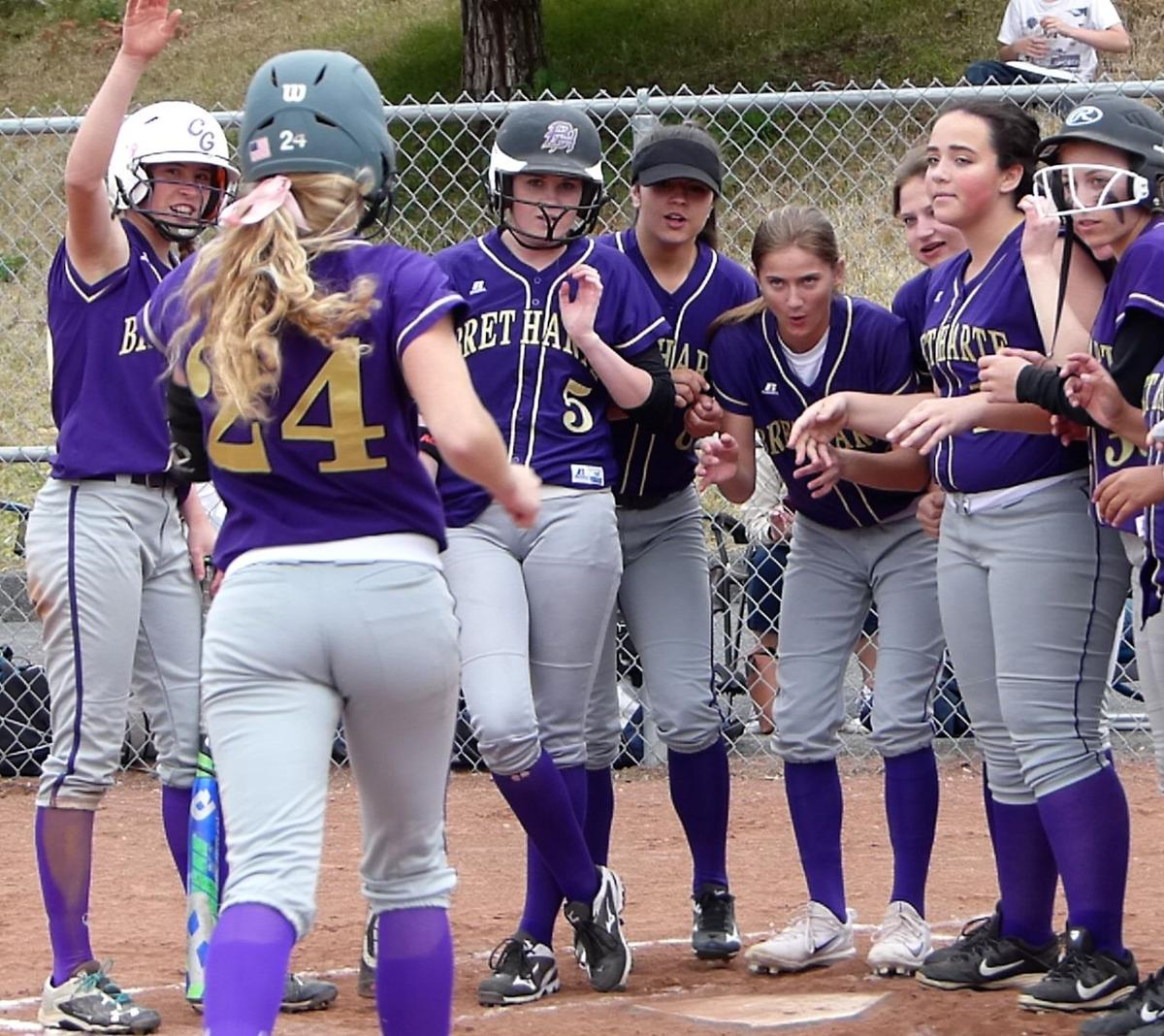 Bret Harte softball girls score walk-off win against Bears ...