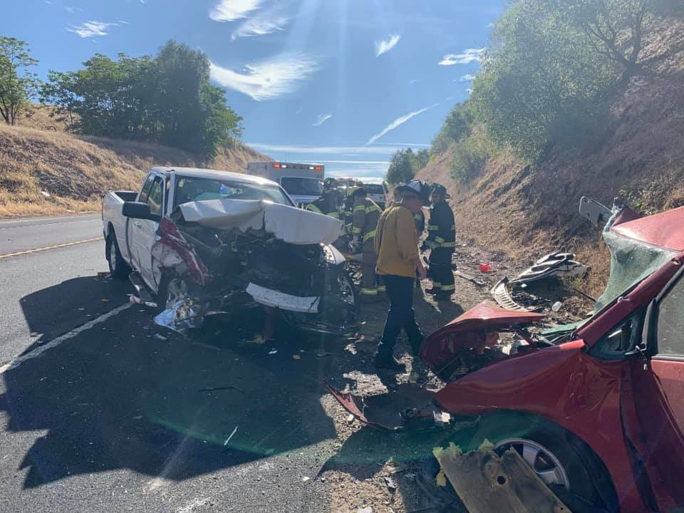Two drivers suffer major injuries in head-on collision