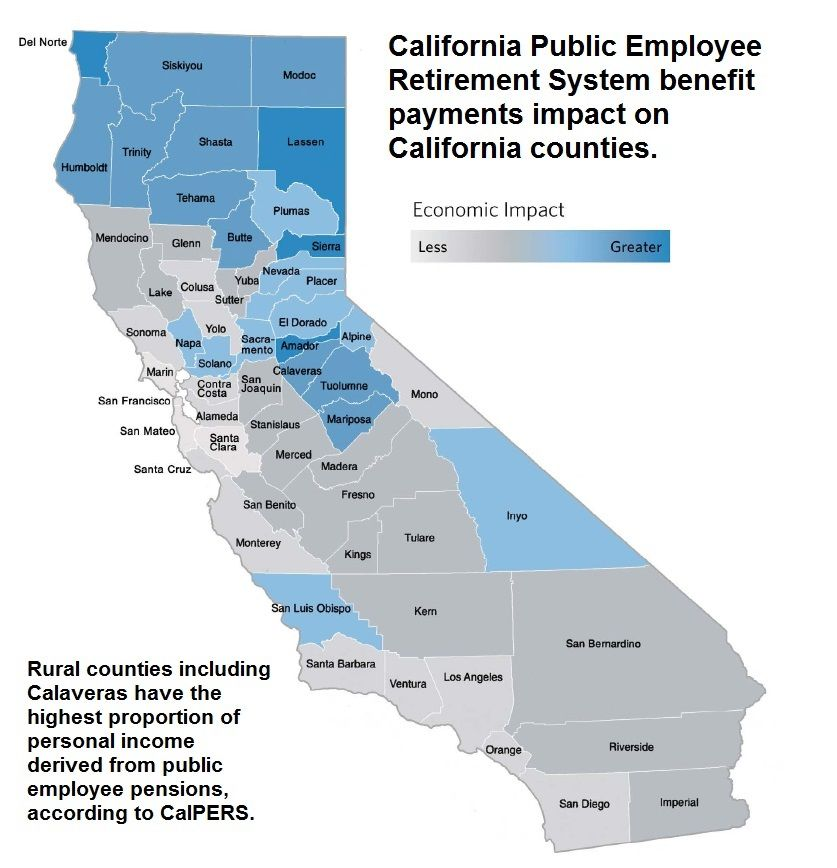 Pensions A Big Part Of Income For Rural Counties Business - California counties