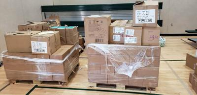 The Calaveras County Office of Education recently received a shipment of personal protective equipment from the state, which was distributed to county schools.