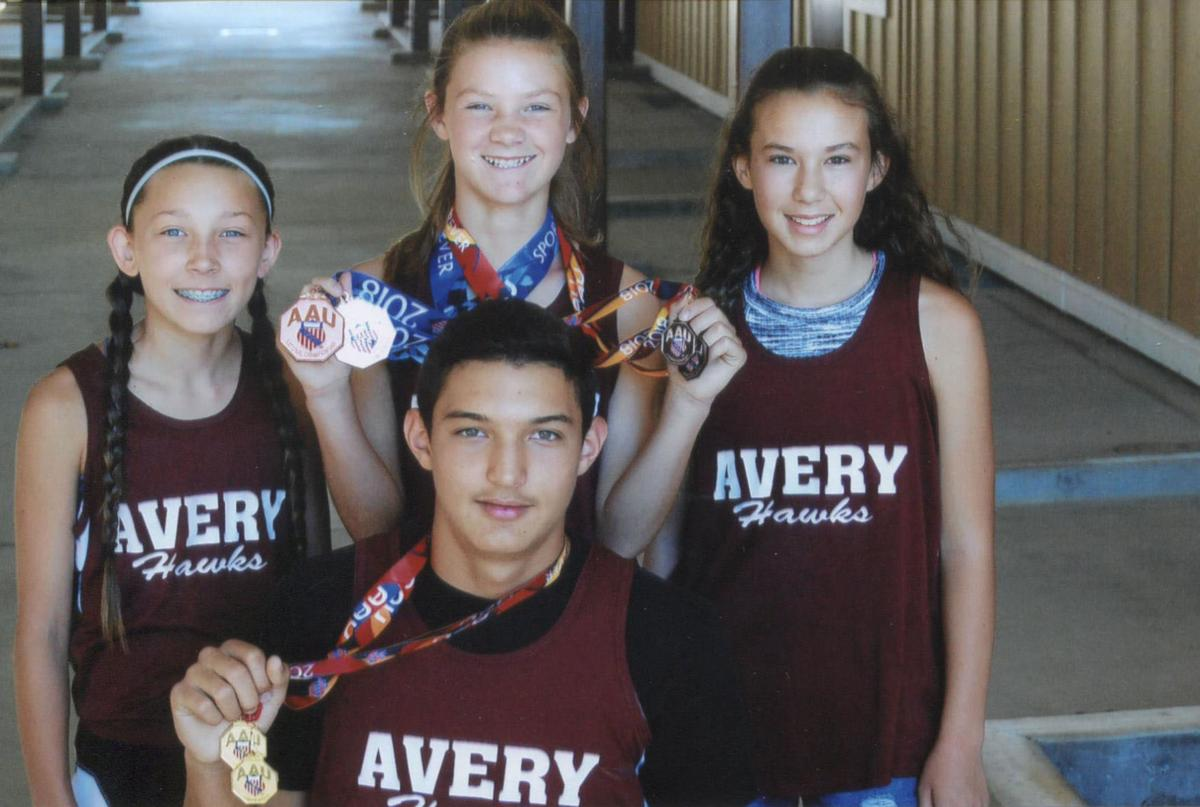 Avery Hawks AAU Junior Olympics track team continues to shine