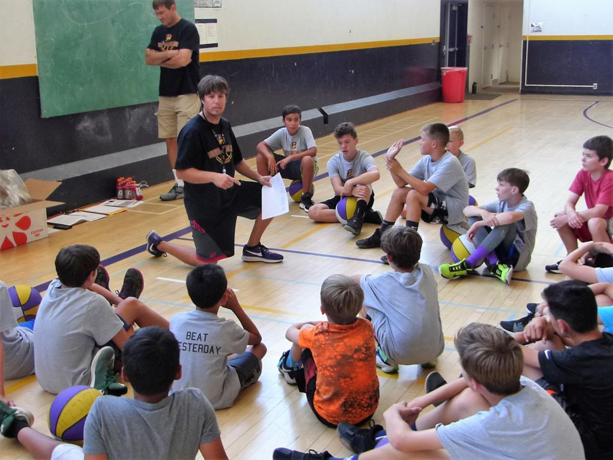 Young hoopsters take part in clinic