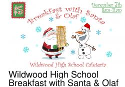 Breakfast with Santa and Olaf