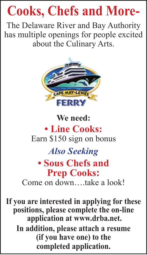 Delaware River and Bay Authority COOKS, CHEFS and MORE