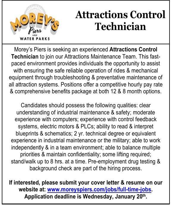 Attractions Control Technician