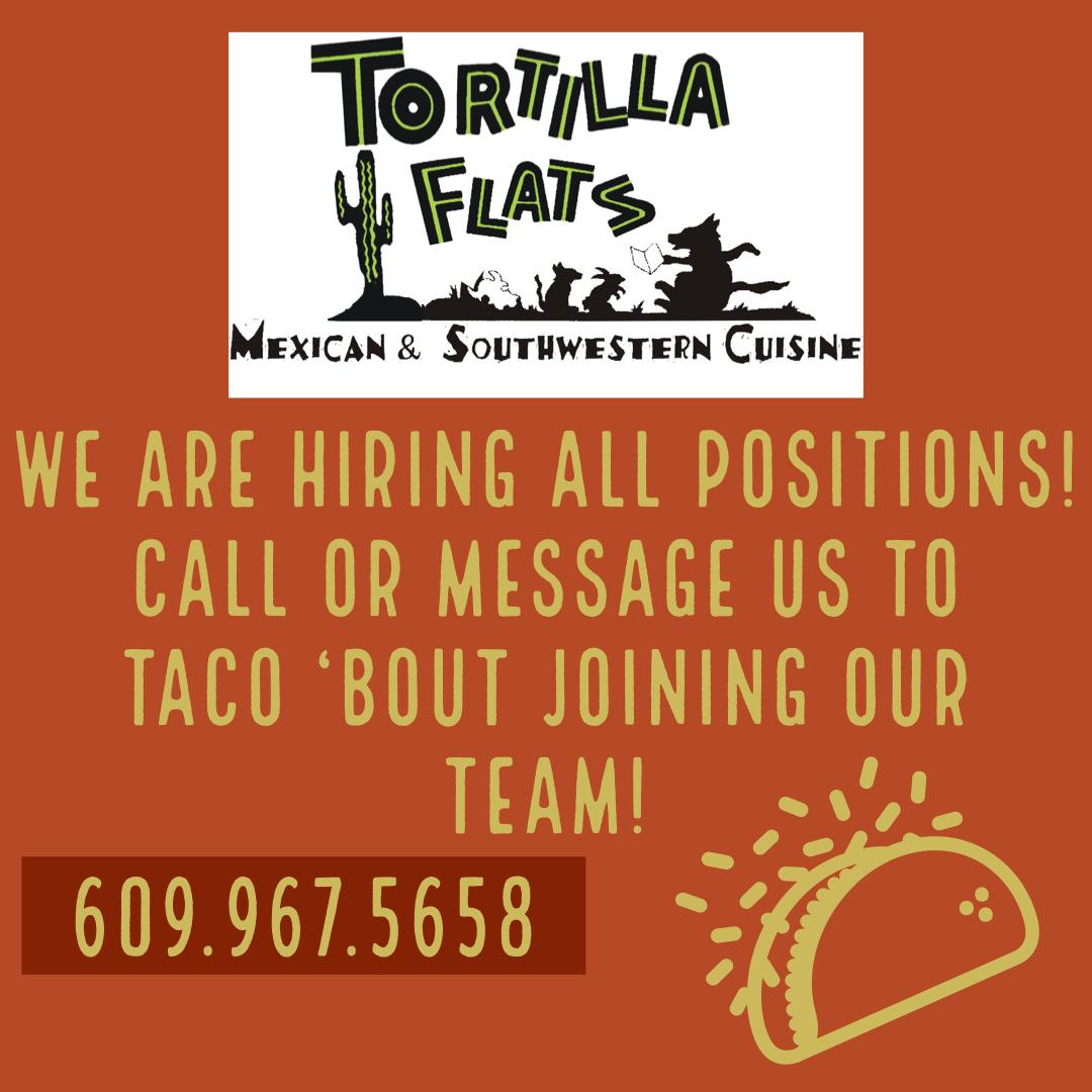 Tortilla Flats Mexican Restaurant Hiring All Positions! image 1