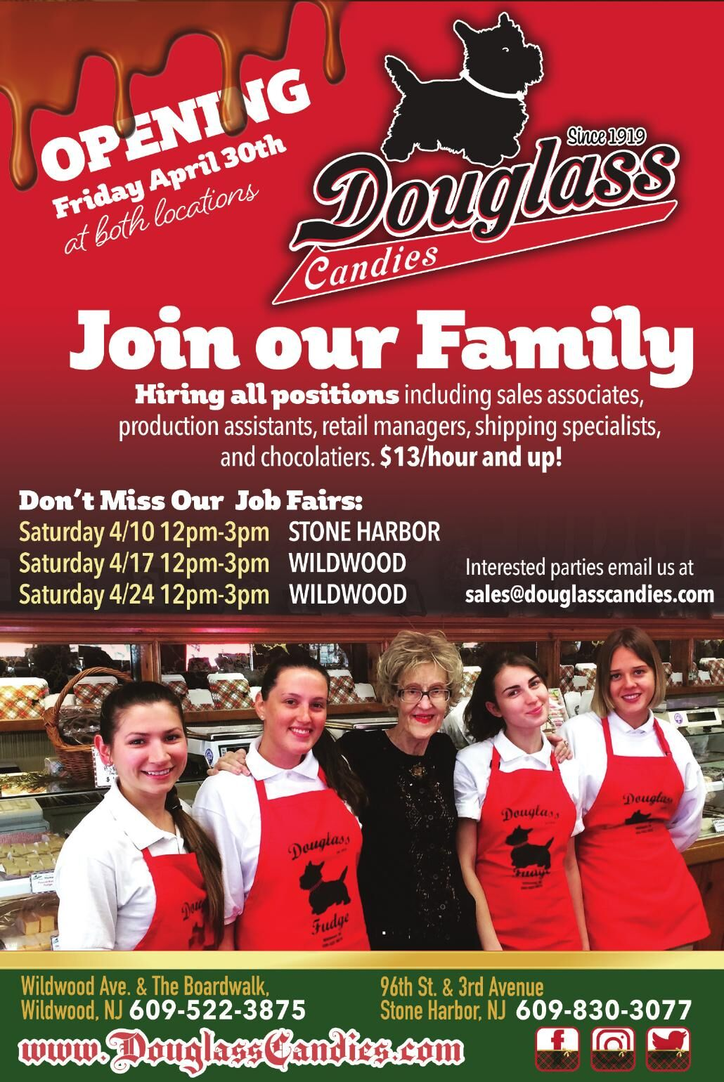 Douglass Candies JOIN OUR FAMILY