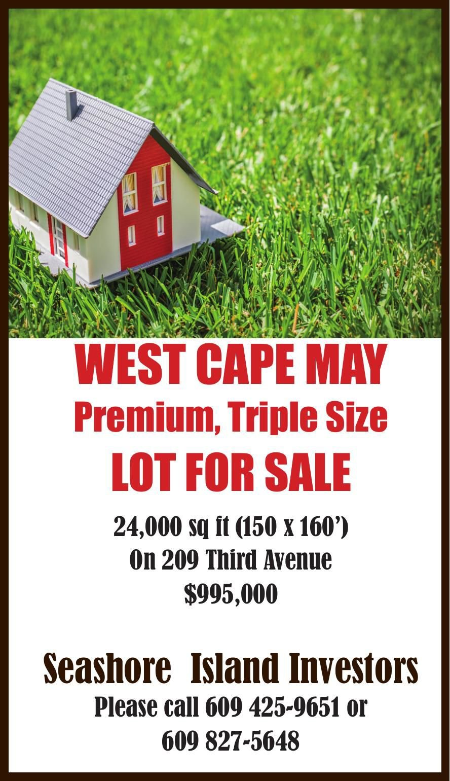 WEST CAPE MAY Lot For Sale