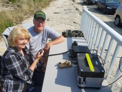 On the Beach, Ham Operators Chat with Peers Worldwide