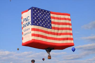 Patriotic Essay Contest Will Offer Winner A Ride In A Hot Air  Balloon Photo Pnc Flag In Flight