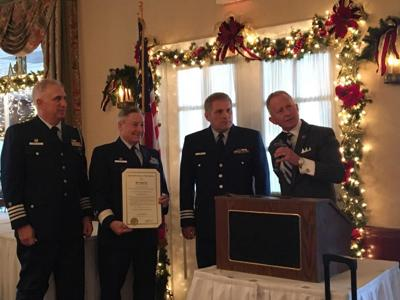 Coast Guard Auxiliary Holds Change of Watch Ceremony