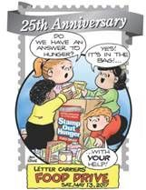 25th Annual Stamp Our Hunger® Food Drive to Be Held May 13