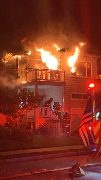 Firefighters Battle Early Morning Crest Blaze