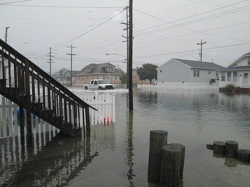 Wildwood's Park Boulevard Floods Oct  27