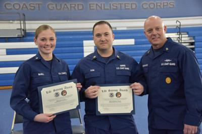 For Saving a Life, CG Presents Awards to 2 Members