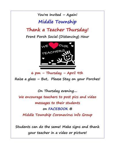 Toast Teachers Online This Thursday