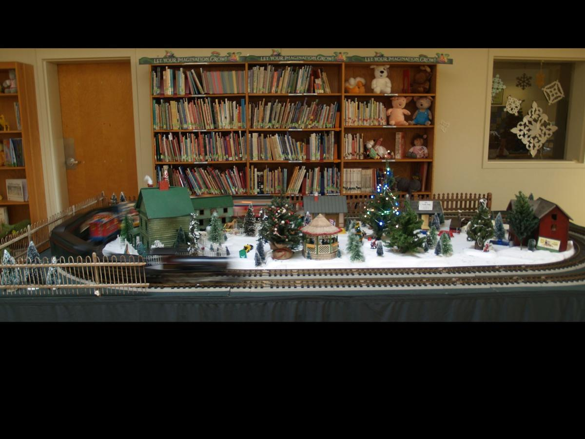 Students at Special Services School See Toy Train Display