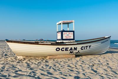 Ocean City Beach Patrol Stand, Boat - Shutterstock