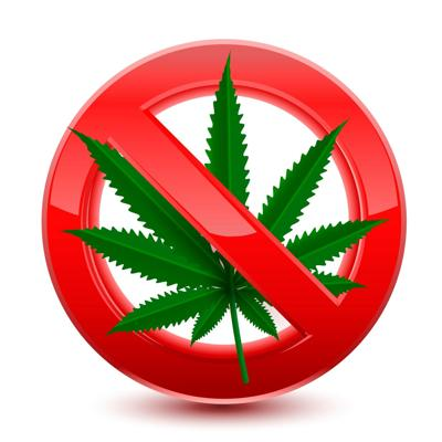 Marijuana Crossed Out - Shutterstock