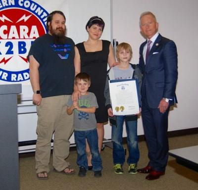 Eleven-year-old Honored as State's Youngest Ham Operator