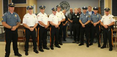 Lower Township Police Department Promotes 4 Officers, Welcomes 2 New Officers