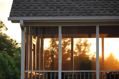 Sunset,Through,The,Screened,In,Porch