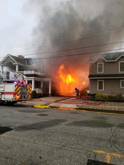 Fire Departments Fight Morning Stone Harbor Blaze