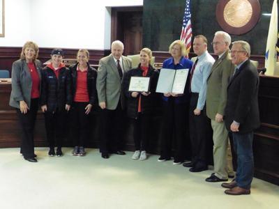 Ocean City High School Red Raiders Girls Soccer Team Honored by Freeholders