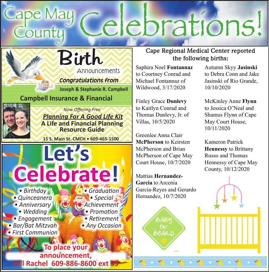 Celebrations for 10-28-2020