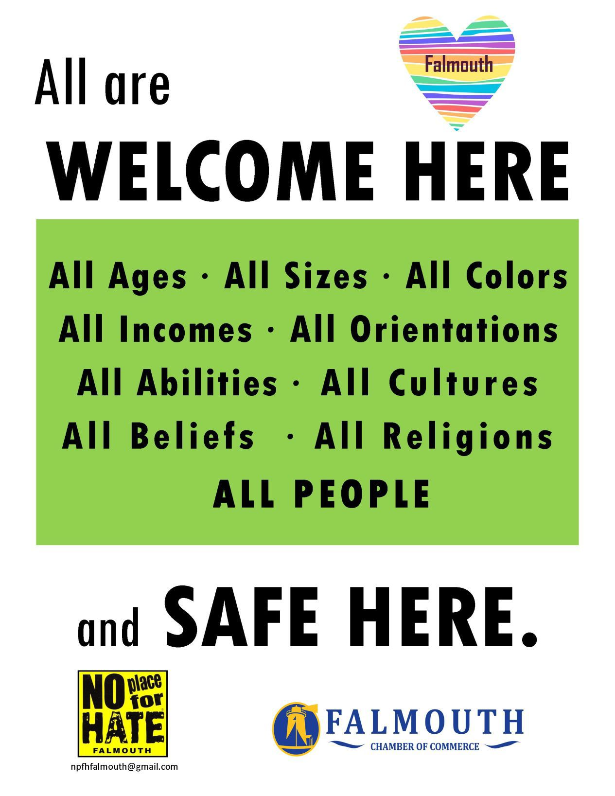welcoming posters