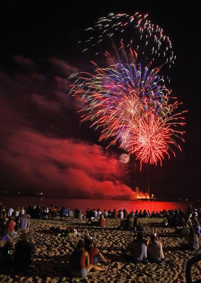 Falmouth Fireworks - July 4, 2018