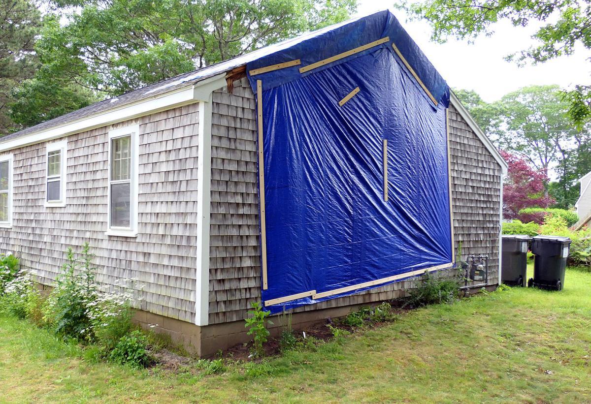 Lightning Strikes Mashpee Home