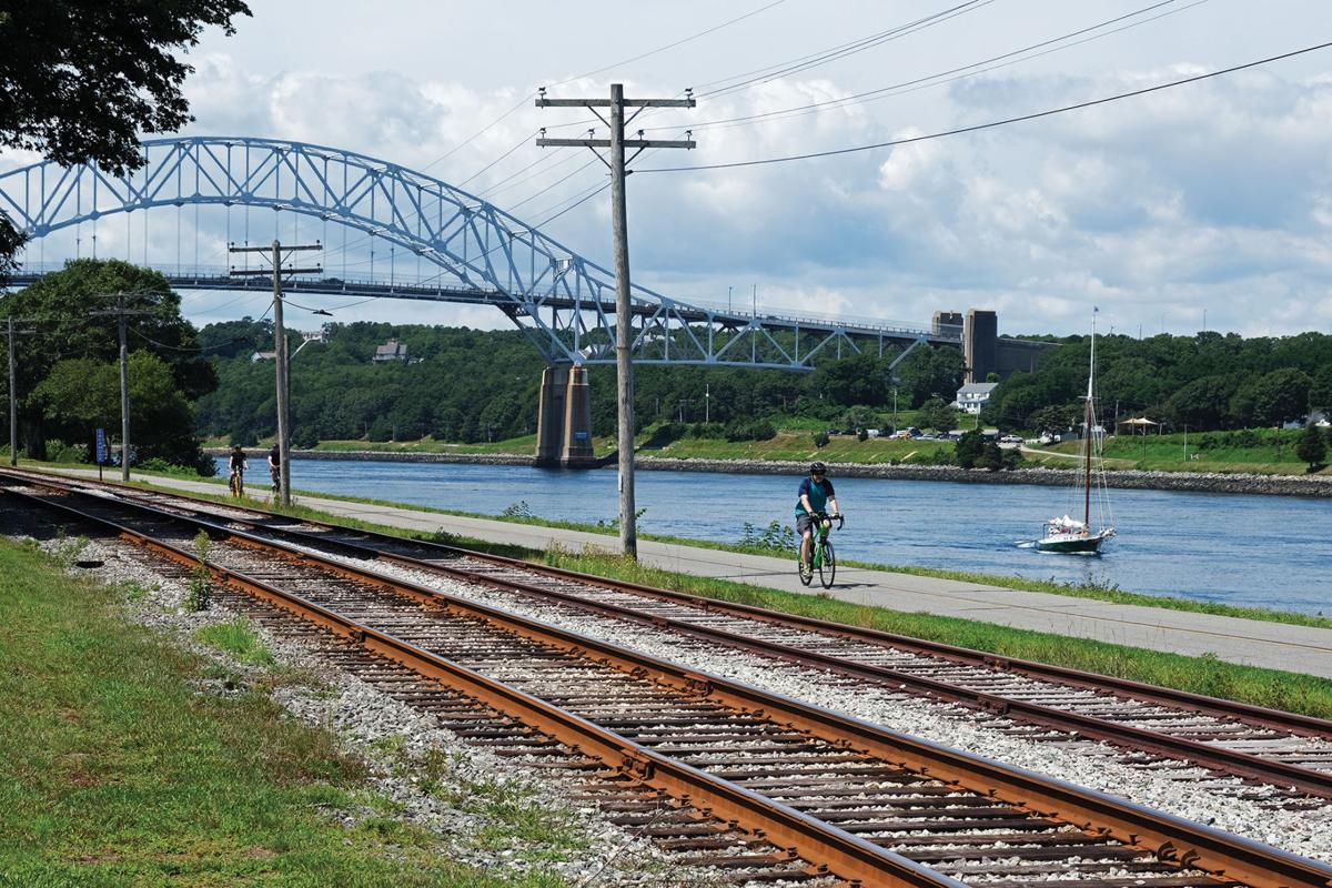 Cyclists On The Canal path, August 17, 2021
