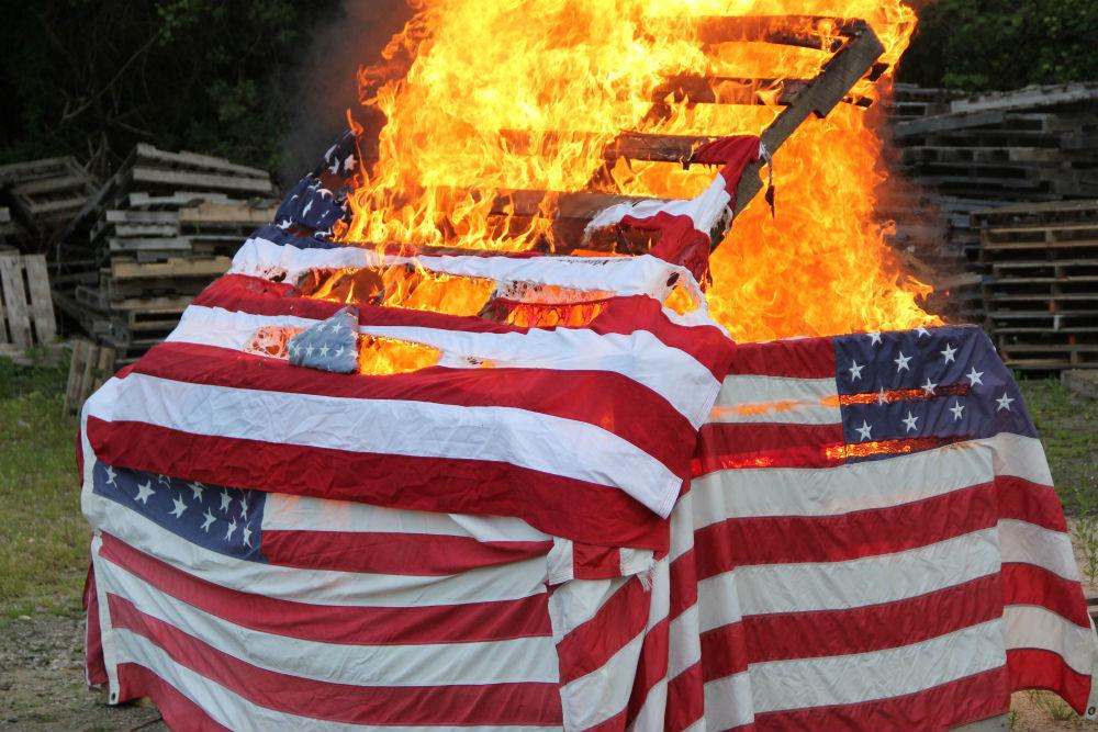Flags And Flamesu2014Legion Post Hosts Flag Retirement