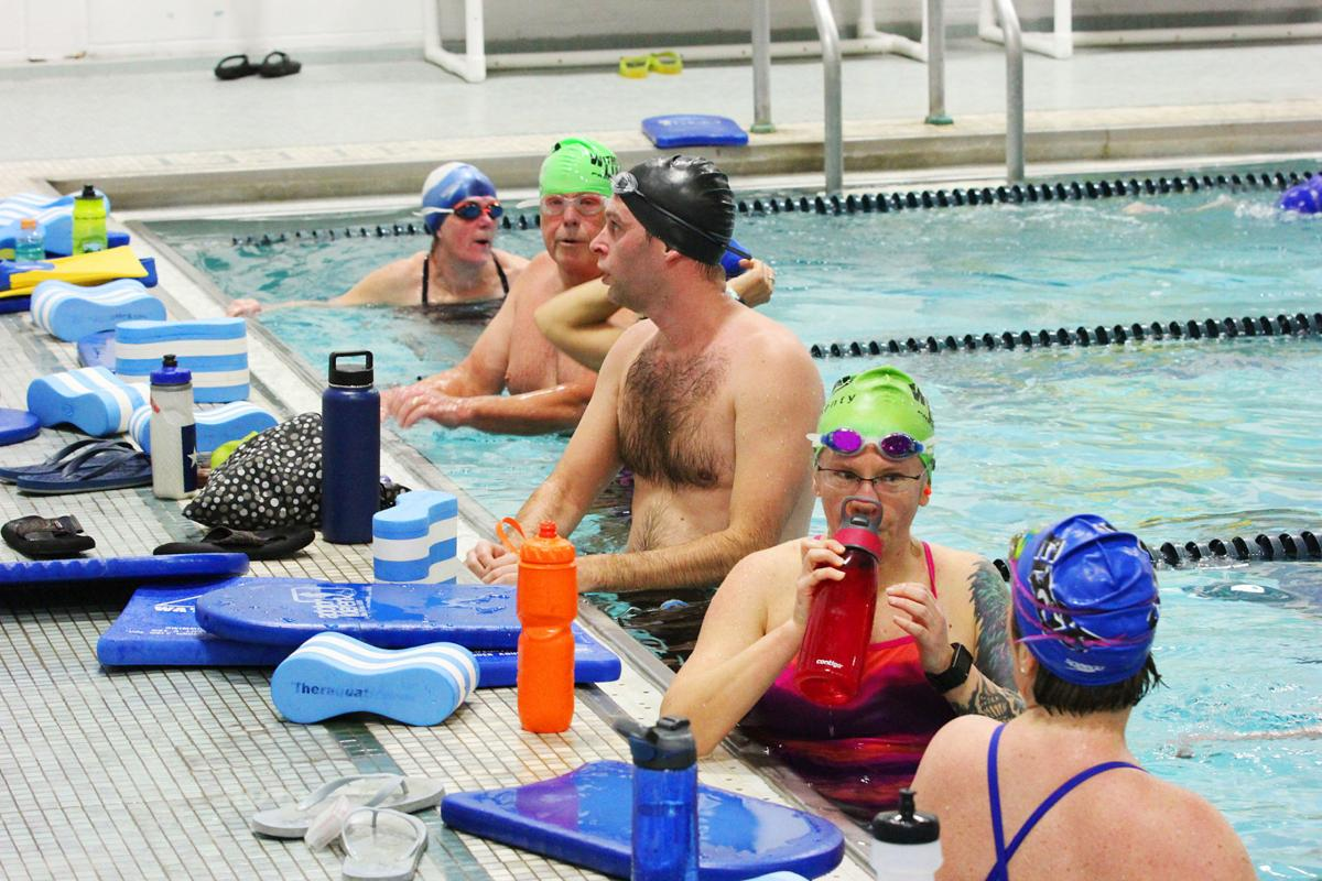 Sandwich High School Pool Used For Community Swimmers