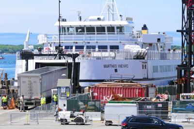 Truck Loaded Onto Ferry
