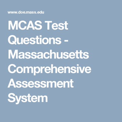 MCAS tests