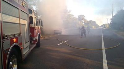 MacArthur Boulevard Car Fire