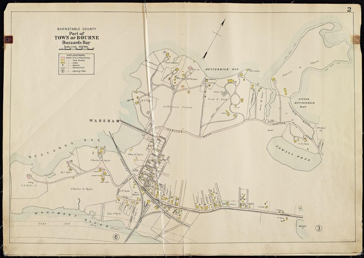 Buzzards Bay Map 1910
