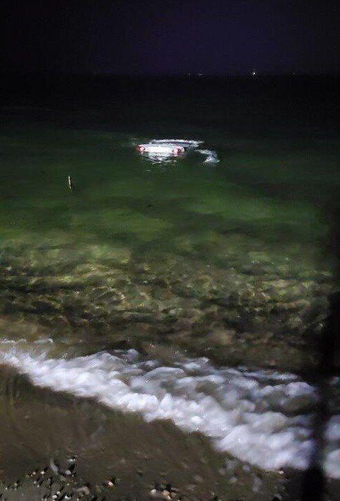 Car At Surf Drive Beach 1