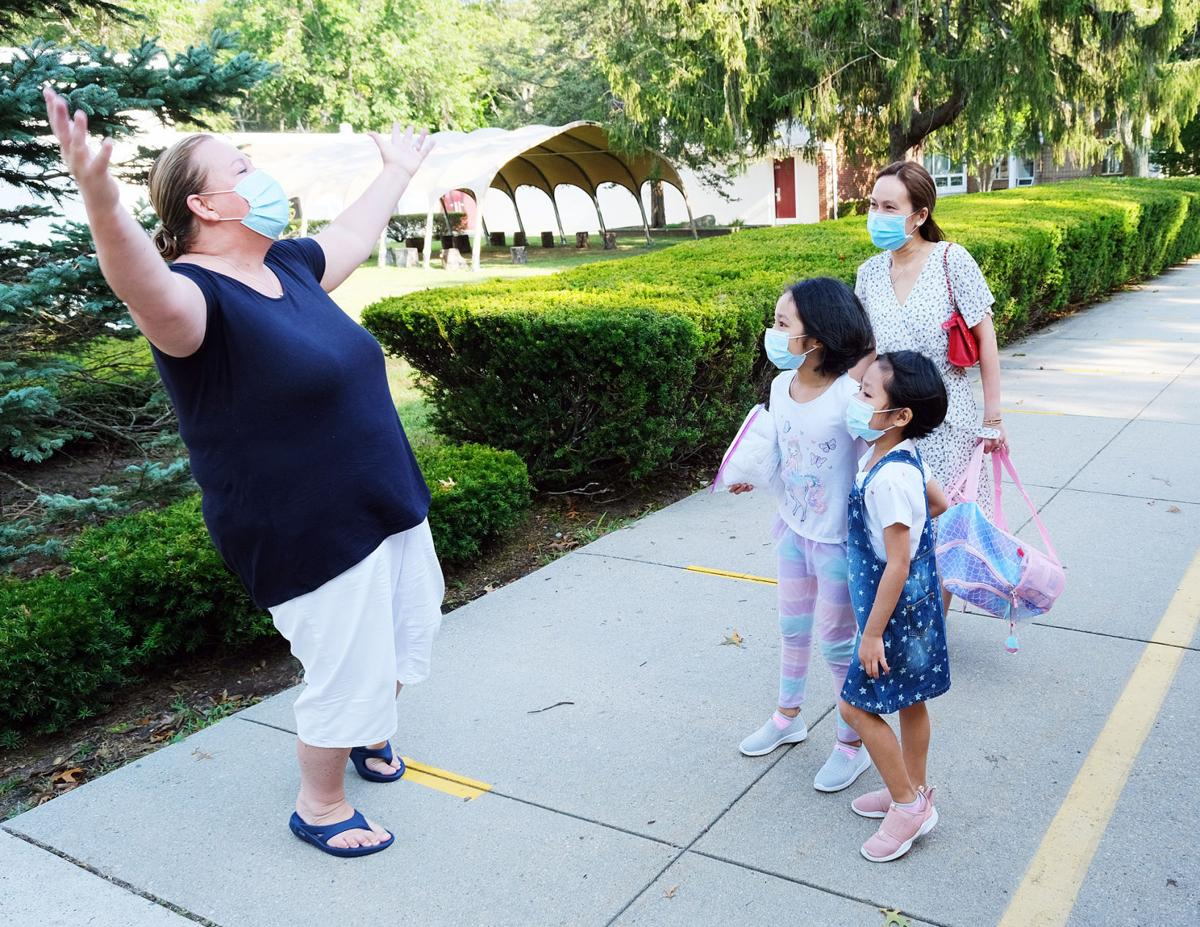 East Falmouth Elementary School First Day, September 8, 2021