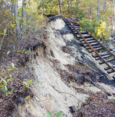 Train Tracks Collapse