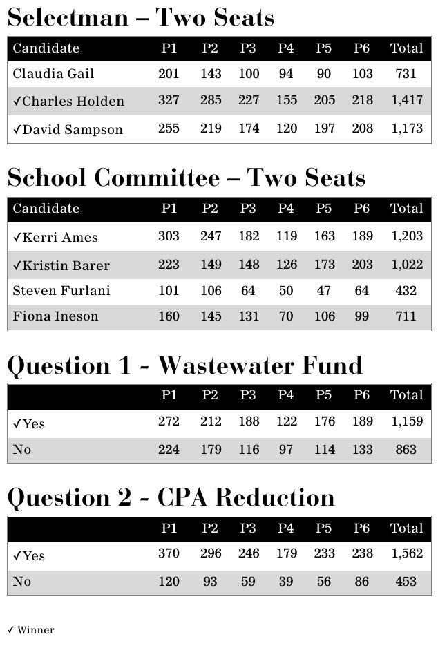 Election Results Table 2019 | | capenews net