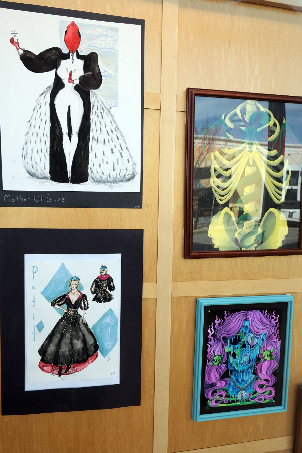 Mashpee High School Art Display