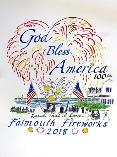 2018 Falmouth Fireworks T-Shirt